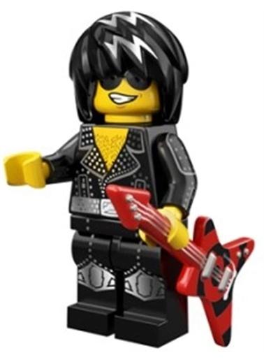 Lego Lego Minifigür - Seri 12 - 71007 - Rock Star Renkli